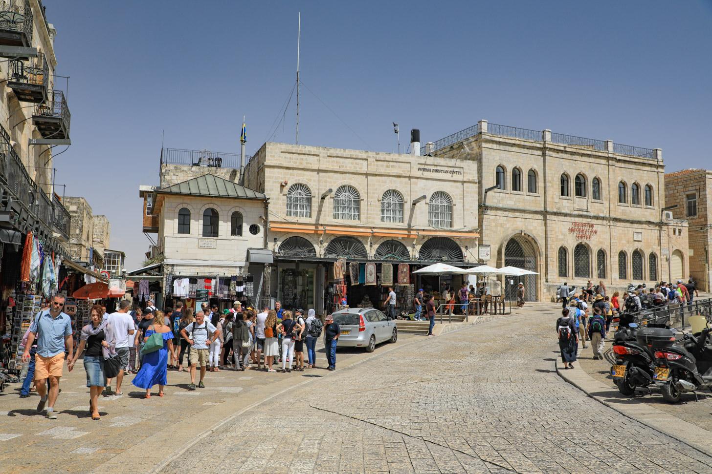 zonnig weer in Jeruzalem